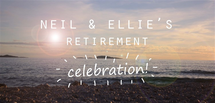 Retirement celebration banner